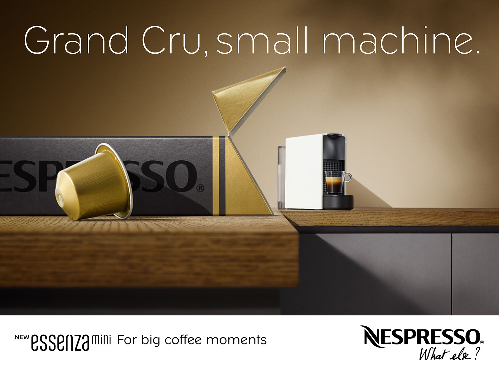 Squids Network creative agency Nespresso Machine Essenza mini print