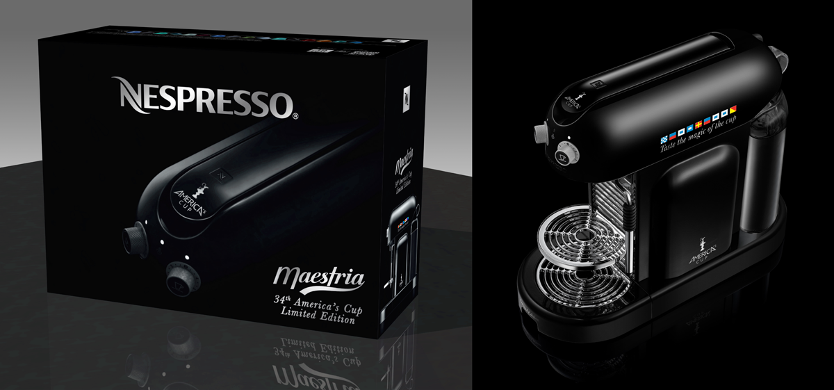 Squids Network creative_agency Nespresso America's Cup C Maestria machine packaging