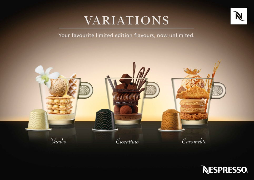 Squids Network creative_agency Nespresso variation